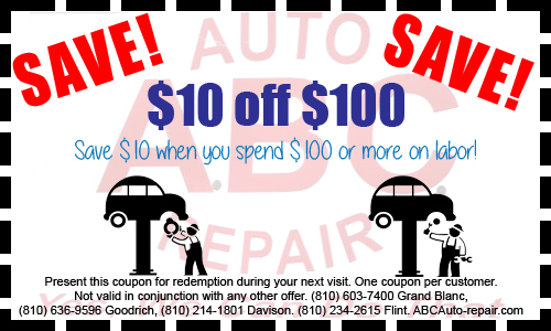 ABC Auto Repair Coupon Flint MI