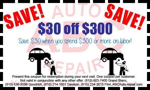 ABC Auto Repair Coupon Davison MI