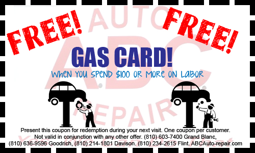 ABC Auto Repair Coupon Goodrich MI